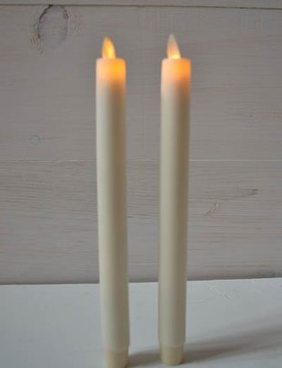 "Set of 2  10"" Taper Candles"