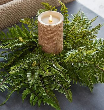 Large Fern Candle Ring