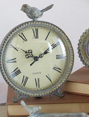 """7"""" Vintage Clock w/ Bird"""