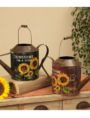 Sunflower Watering Can (2 Colors)