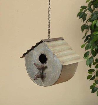 Hanging Metal Birdhouse w/ Faucet