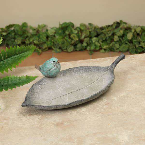 Gray Leaf Feeder with Birds (2 Styles)