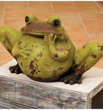Rustic Terra Cotta Frog (2 Sizes)