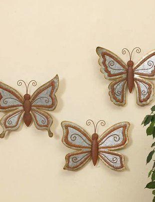 Small Galvanized Wall Butterfly (3 Styles)