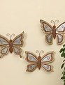 Small Galvanized Wall Butterfly
