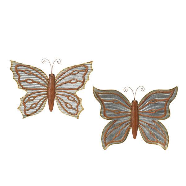 Large Galvanized Wall Butterfly