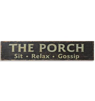 The Porch Wall Plaque
