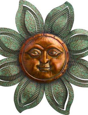 Large Scroll Sun Face