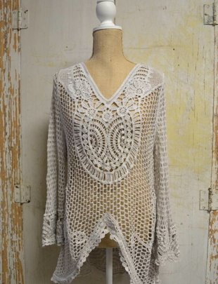 Crochet Tunic w/ Sleeve