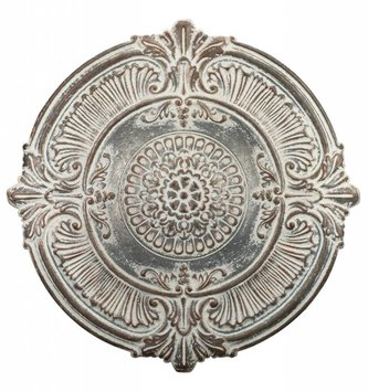 Whitewashed Wall Medallion Decor