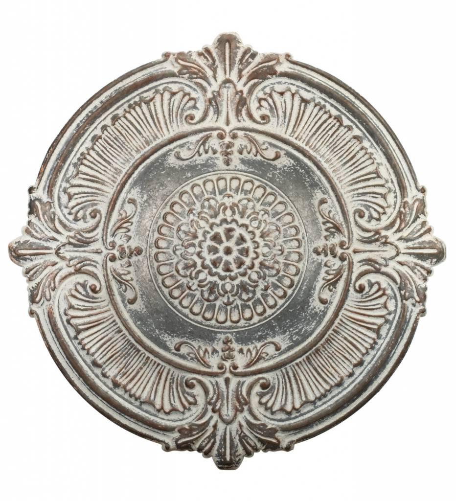 Whitewashed Wall Medallion Decor