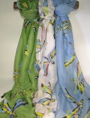 Dragonfly Print Scarf (3 Colors)