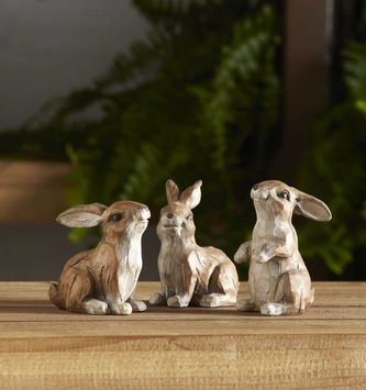 Mini Carved Bunny (3 Styles)