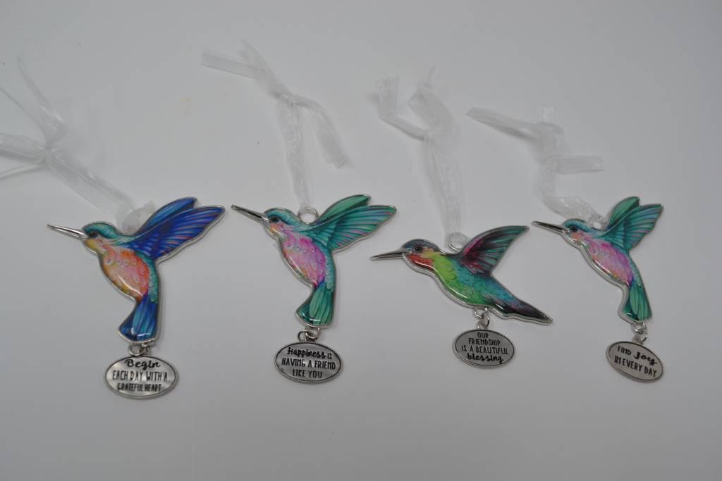 Hummingbird Message Charm