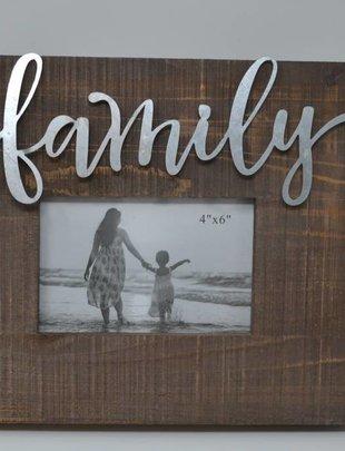 Tin Family Wooden Frame