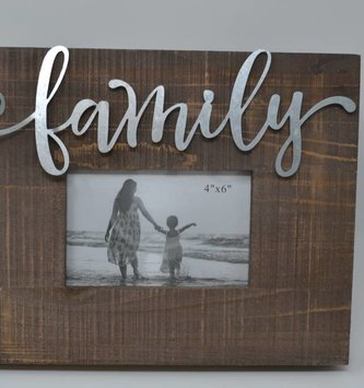 Tin Family Wooden Frame
