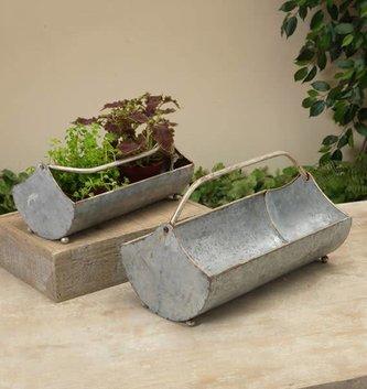 Metal Planter w/ Handle (2 Sizes)