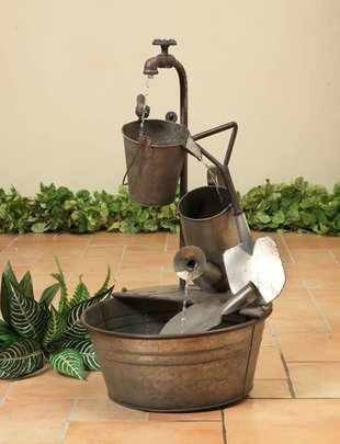 Galvanized Antique Garden Fountain