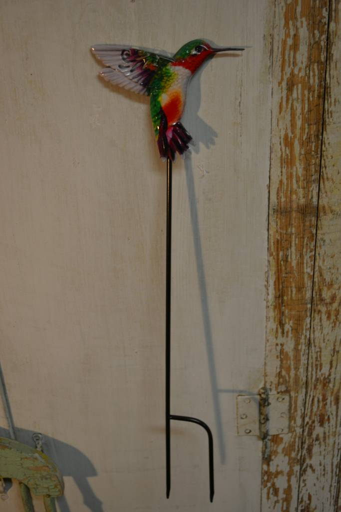 Colorful Hummingbird Stake