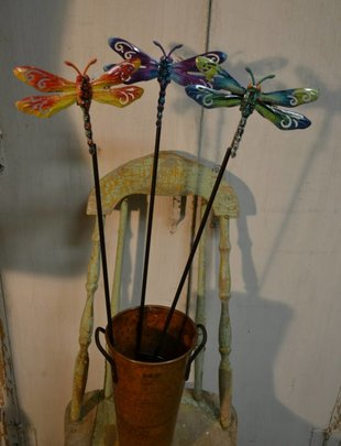 Colorful Dragonfly Stake (3 Styles)