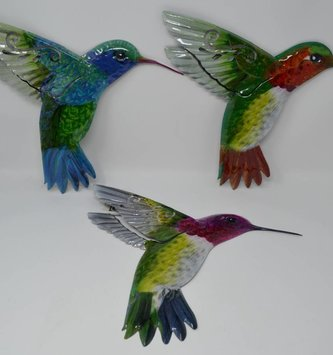Large Colorful Metal Hummingbird (3 Styles)