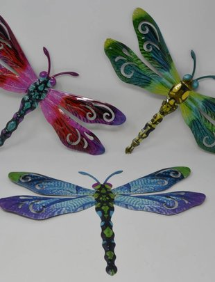 Large Colorful Metal Dragonfly (3 Styles)