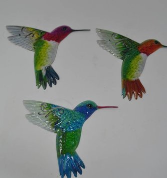 Small Colorful Metal Hummingbird (3 Styles)
