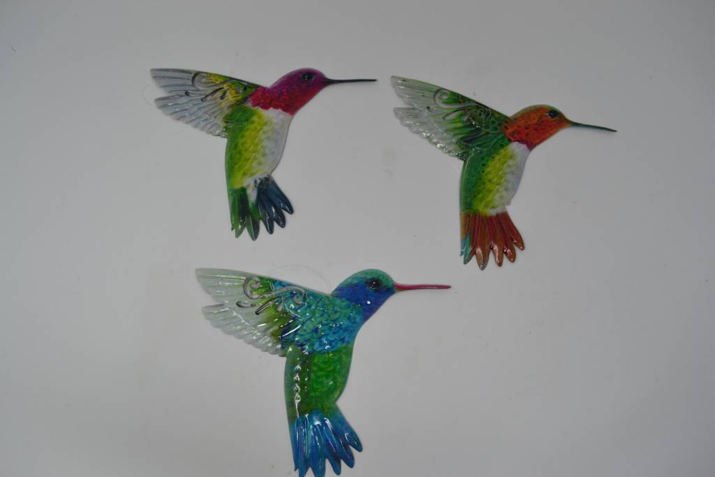 Small Colorful Metal Hummingbird