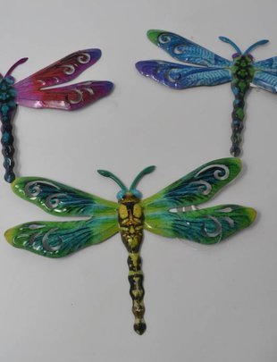 Small Colorful Metal Dragonfly (3 Styles)