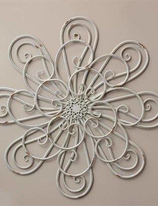 Cream Distressed Flower Wall Decor