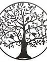 Large Round Metal Giving Tree