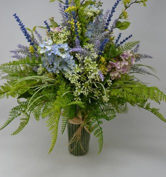 Lilac Custom Grass Vase Arrangement