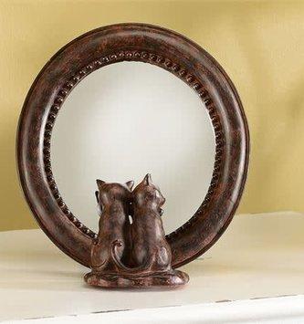 Oval Kitten Mirror