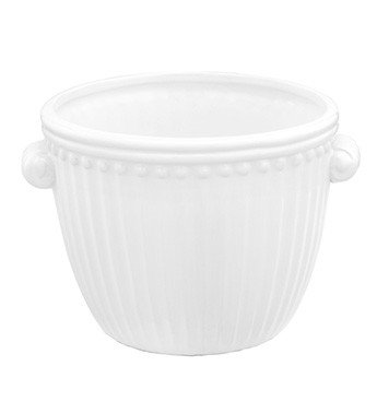White Ribbed Container