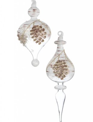 Winter Pinecone Finial Ornament (2 Styles)