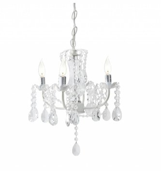 Small White Crystal Chandelier