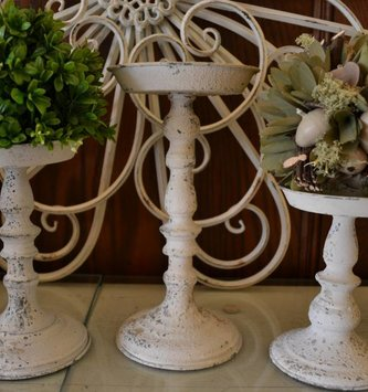 Cream Candle Holder (3 Sizes)