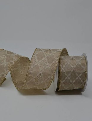 Taupe Diamond Pattern Ribbon