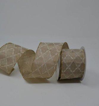 Taupe Diamond Pattern Ribbon