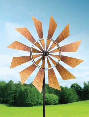 Rustic Turbine Kinetic Spinner