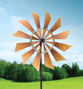 Rustic Turbine Kinetic Spinner