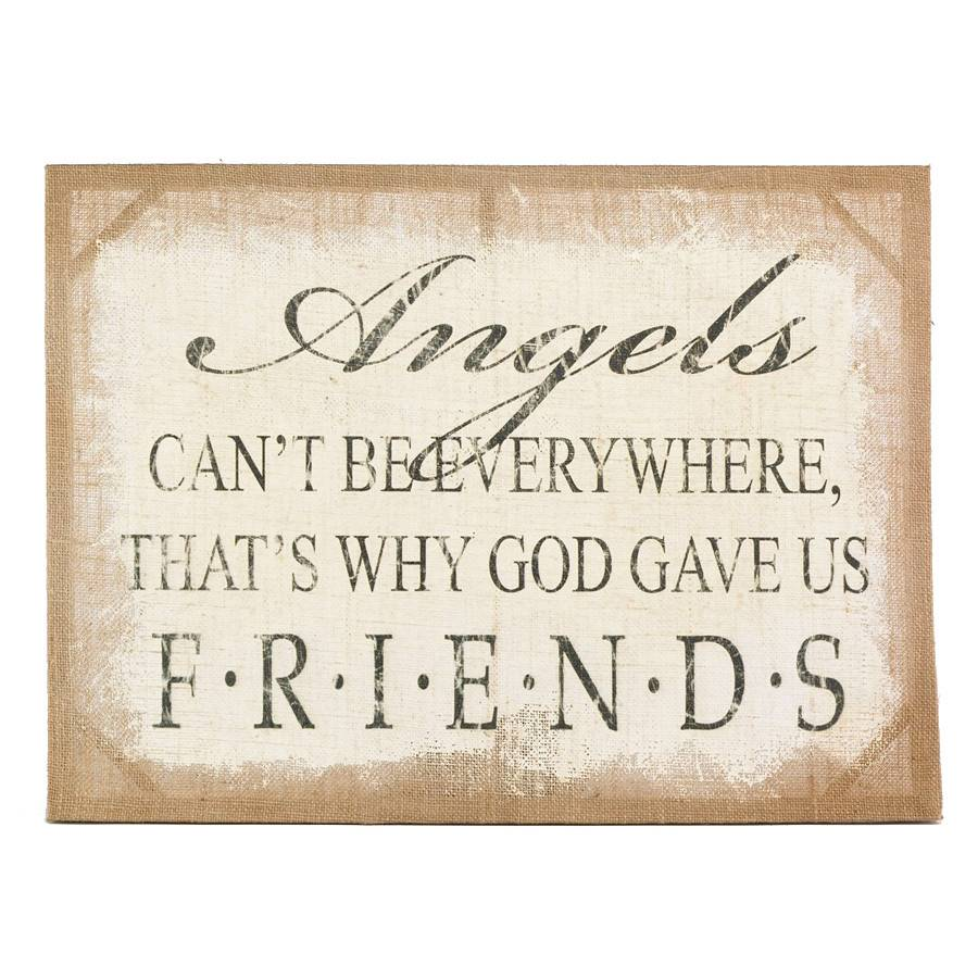 Angels Burlap Canvas Print