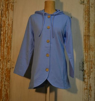 Wooden Button Hoodie (3 Colors)