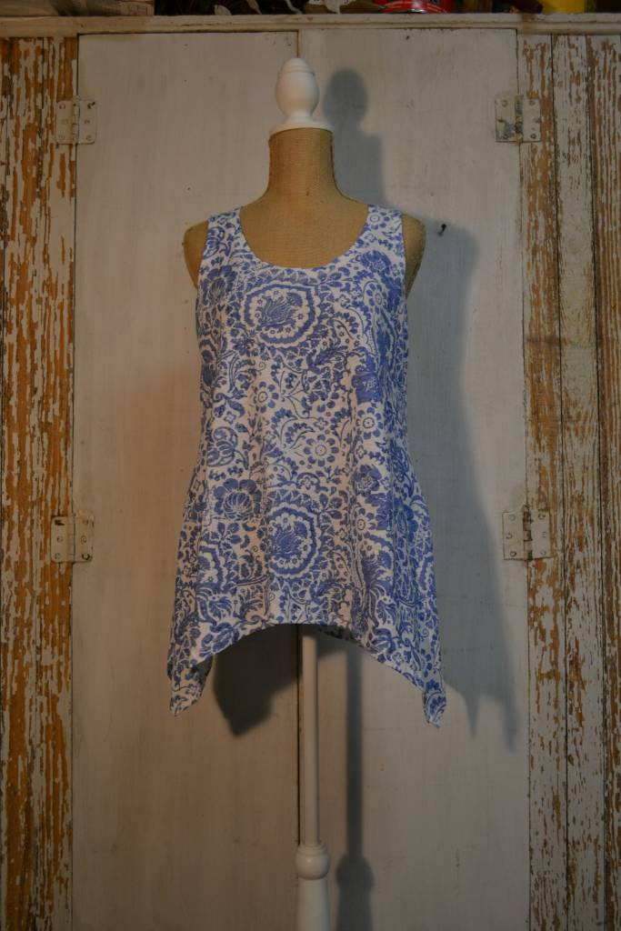 Abstract Floral Tank Top