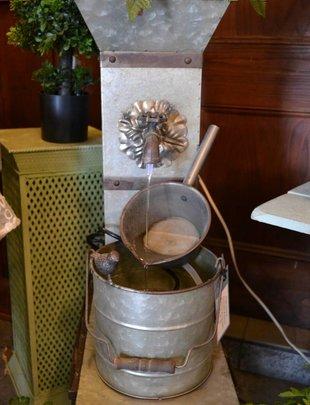 Galvanized Antique Faucet Planter Fountain