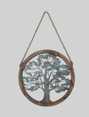 Hanging Distressed Tree of Life Wall Art