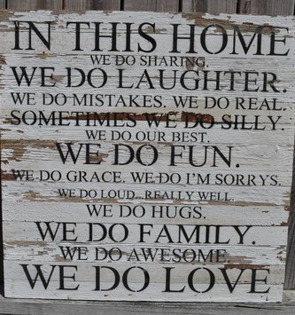 In This Home Reclaimed Pallet Sign (2 Finishes)
