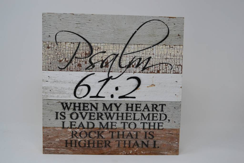 Psalm 61:2 Reclaimed Pallet Sign