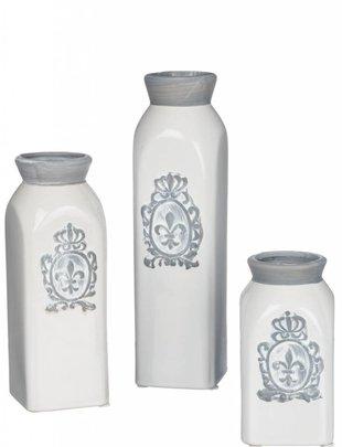 White Fleur De Lis Bottle