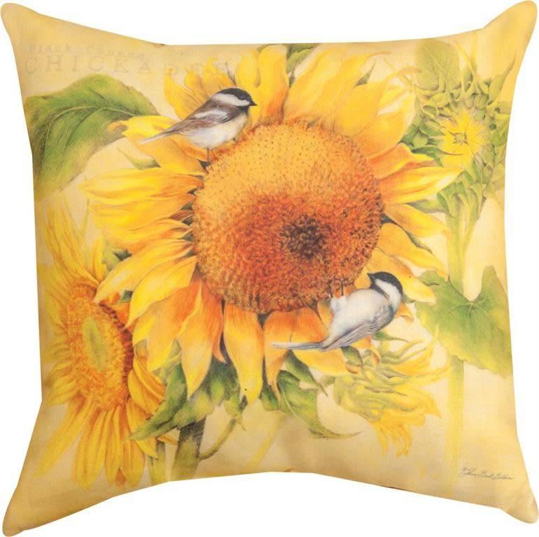 Chickadee's Feast Pillow